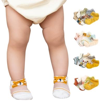 colorland【5雙入】嬰兒襪 韓版春夏童襪 造型襪子