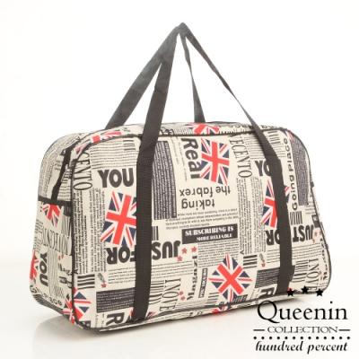 DF Queenin - 出國馬上走!超輕超大容量旅行袋可掛行李桿-共6色