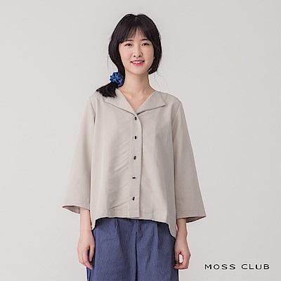 【MOSS CLUB】獨家台灣製造-襯衫(灰色)