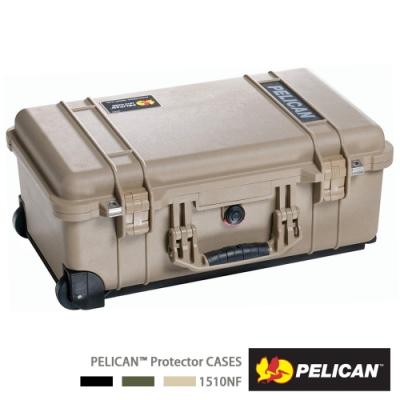美國 PELICAN 1510 輪座拉桿氣密箱-空箱(沙漠黃)