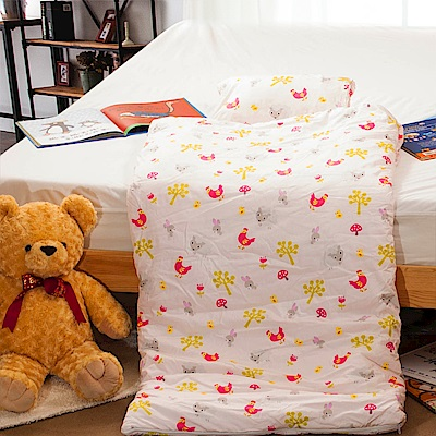 Carolan-小公雞 純棉舖棉兩用加大型兒童睡袋
