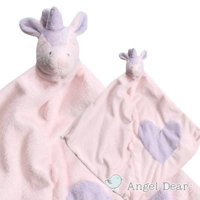 美國 Angel Dear 動物嬰兒安撫巾 (愛心獨角獸)