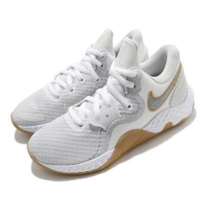 Nike 籃球鞋 Renew Elevate II 運動 男鞋 輕量 避震 支撐 包覆 球鞋 穿搭 白 灰 CW3406100