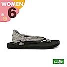 SANUK 女款US6 動物紋綁帶涼鞋(灰色)