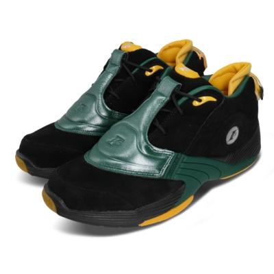 Reebok 籃球鞋 Answer V Low 運動 男鞋 明星款 戰神 避震 包覆 球鞋 穿搭 綠 黑 FX7199