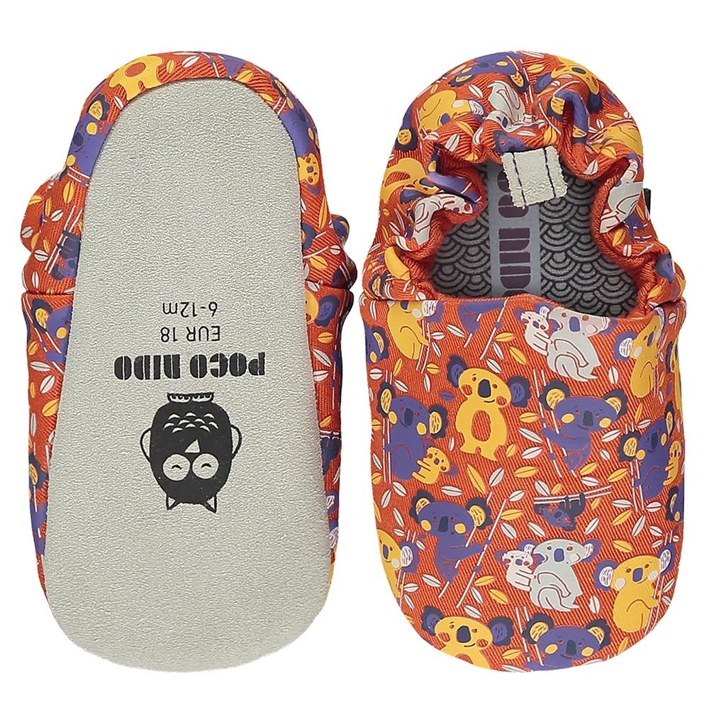 英國 POCO NIDO 手工嬰兒鞋 (抱抱無尾熊 - 熱情橘)【2021新款】