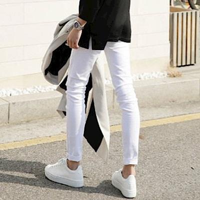 BuyGlasses 韓風素面修身超窄休閒長褲