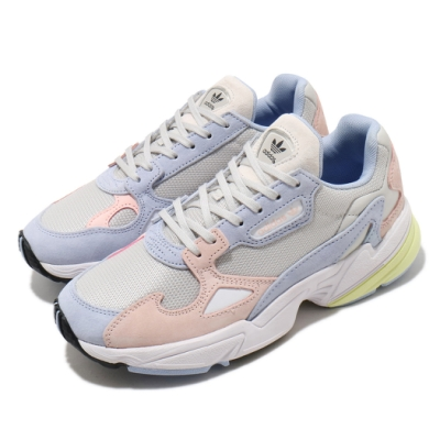 adidas 休閒鞋 Falcon W 老爹鞋 厚底 女鞋 愛迪達 三葉草 流行款 微增高 穿搭推薦 藍 粉 FX3929