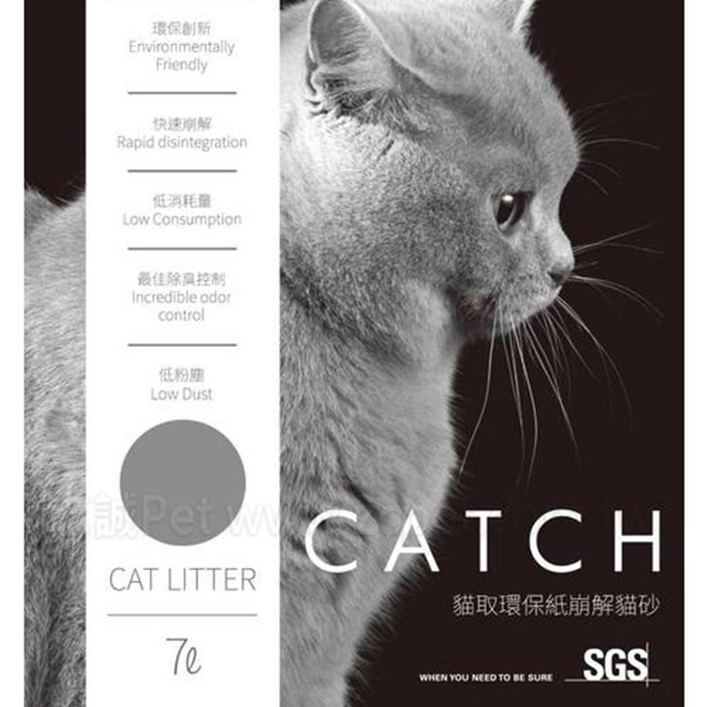 Catch 貓取環保紙崩解貓砂 7L 四包組
