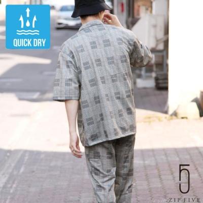 ZIP日本男裝 網眼拉鏈上衣&九分褲套裝 (3色)