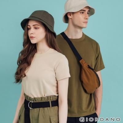 【時時樂】GIORDANO 厚磅棉T恤(男女款任選)