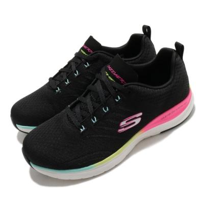Skechers 休閒鞋 Ultra Groove 寬楦 女鞋 輕量 緩震 透氣 支撐 記憶型泡棉鞋墊 黑 彩 149022WBKMT