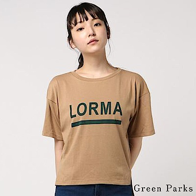 Green Parks 簡約字母T恤上衣