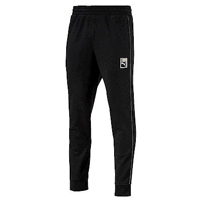 PUMA-男性流行系列T7金屬長褲-黑色-歐規