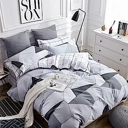 La Lune 台灣製40支精梳純棉雙人床包被套四件組 90年