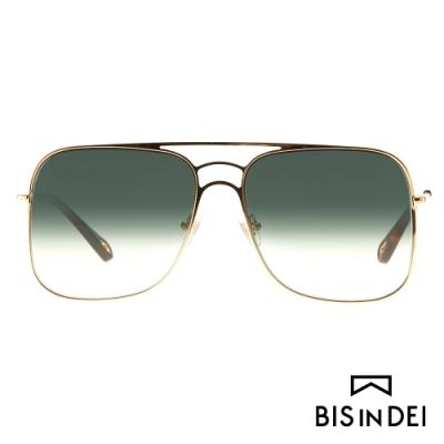 BIS IN DEI 雙槓大方框太陽眼鏡-綠