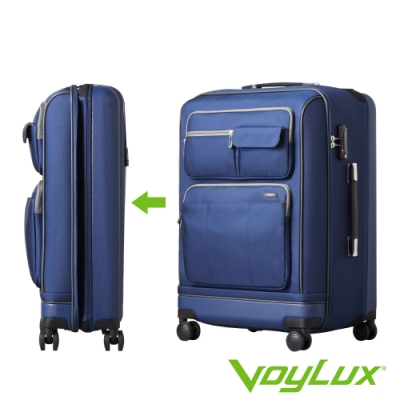VoyLux 伯勒仕-Vantage系列26吋軟硬殼收摺行李箱-藍色3588619