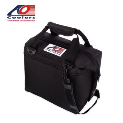 【AO Coolers】酷冷軟式輕量保冷托特包-12罐型 -經典帆布CANVAS系列 經典黑