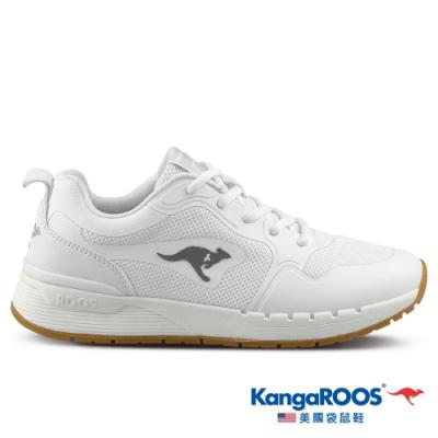 KangaROOS 美國袋鼠鞋 女 FUTURE 潮山野復古跑鞋(白-KW11259)