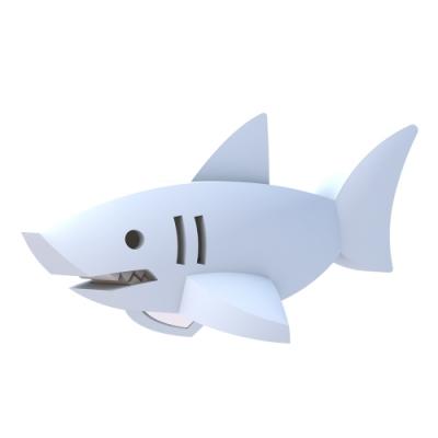 【HALFTOYS 哈福玩具】3D海洋樂園:WHITE SHARK 大白鯊 STEAM教育玩具