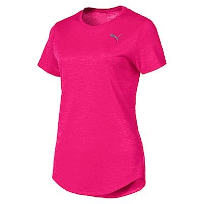 PUMA-女性慢跑系列Epic短袖T恤-洋桃紅(麻花)-歐規