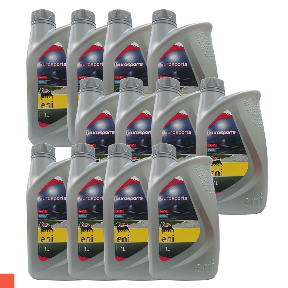 AGIP EUROSPORTS 5W/50 全合成 機油 12罐 箱購