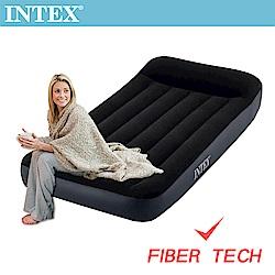 INTEX 舒適單人加大充氣床(FIBER TECH)-寬99cm(64141)