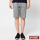 5th STREET 潮系列不對稱後袋休閒五分褲-男-灰色