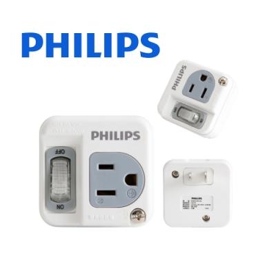 【飛利浦】新安規 節能開關 1開1電腦壁插 SPB1411W/96 - 白色
