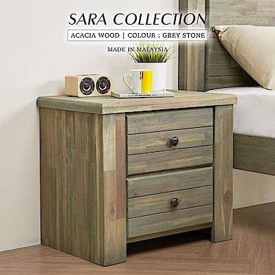 H&D 莎拉鄉村系列實木床頭櫃