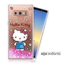 Hello Kitty SAMSUNG Note 9 亮片流沙手機軟殼 - 點心