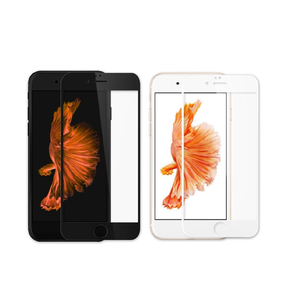 iPhone 6/6S Plus 絲印電鍍 9H 滿版玻璃膜 保護貼