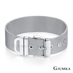 GIUMKA米蘭帶手鍊刻字情侶款簡約白鋼手環 銀色寬款 生日聖誕跨年紀念禮物推薦 單個價格