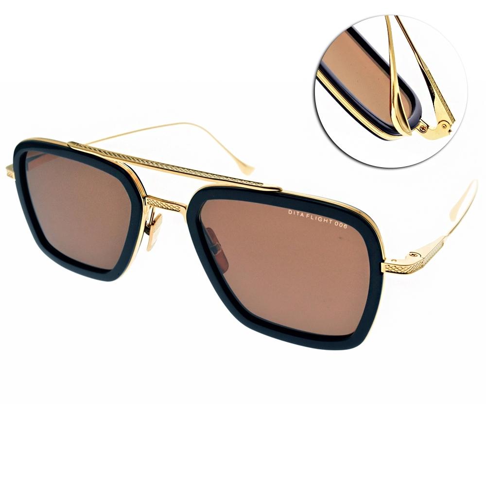 DITA 太陽眼鏡 鋼鐵人配戴款/深藍-金-棕鏡片#DITA7806D NVY-GLD