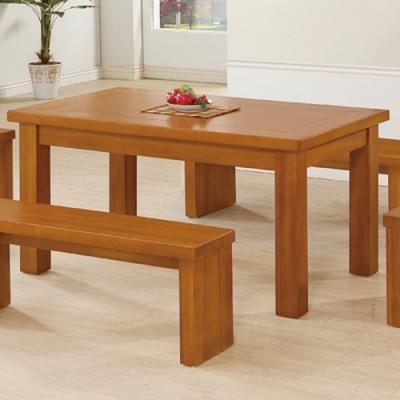 H&D 皇冠樟木色5尺餐桌