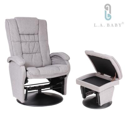 【L.A. Baby】歐式多功能搖椅(灰色)