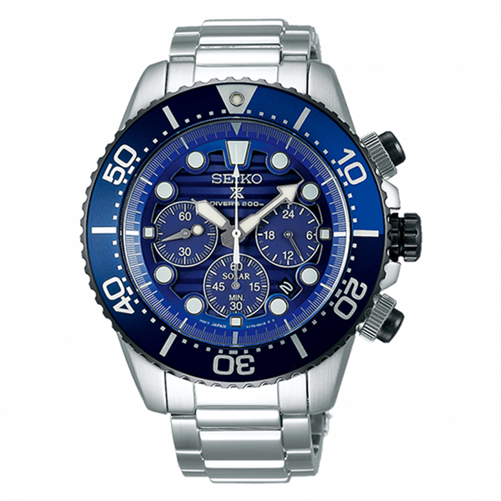 SEIKO 精工PROSPEX DIVER SCUBA 太陽能潛水時尚腕錶SSC675P1