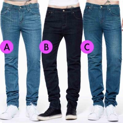 [時時樂限定]BRAPPERS 男款 中腰彈性直筒褲(三色選)