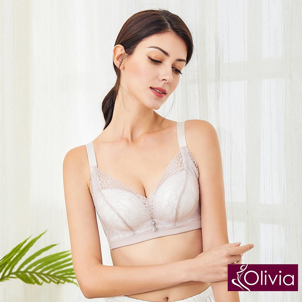 Olivia 無鋼圈3D立體唯美蕾絲無縫內衣-豆沙色 @ Y!購物