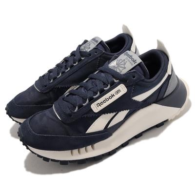 Reebok 休閒鞋 CL Legacy 運動 男女鞋 海外限定 情侶穿搭 厚底 增高 麂皮 深藍 卡其 FY7745