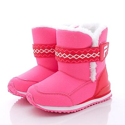 FILA頂級童鞋款-後港寶時尚暖靴款-831P-221桃(中大童段)<b>0</b>