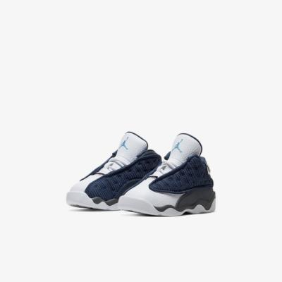 Nike 籃球鞋 Air Jordan 13 Retro 童鞋 經典款 喬丹13代 復刻 小童 穿搭 藍 白 414581404