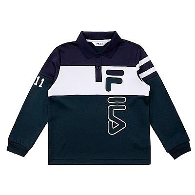 FILA KIDS 童POLO衫-綠 1POS-8400-GN