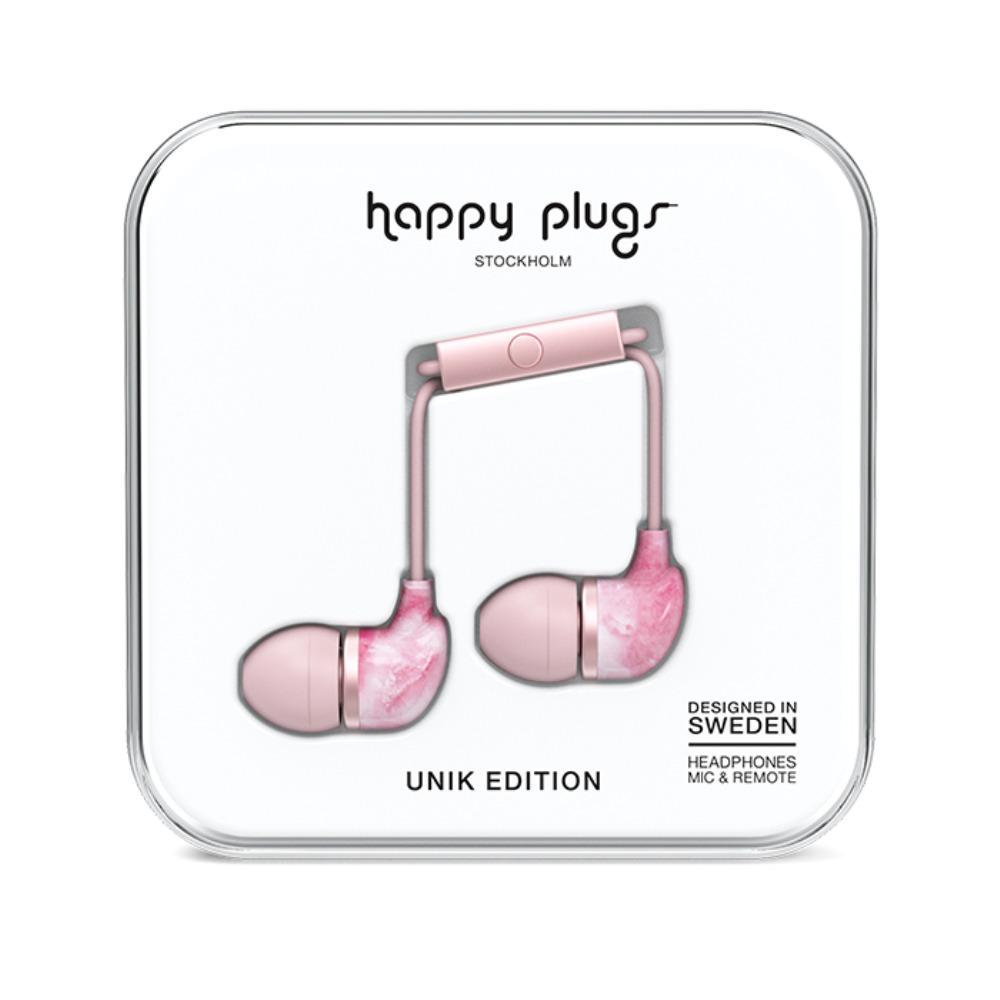 Happy Plugs 特仕限定款入耳式耳機 - 粉色大理石