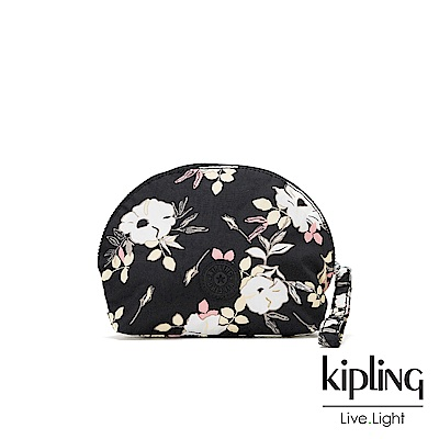 KIpling 浪漫花卉大容量貝殼化妝包-ASSEDO