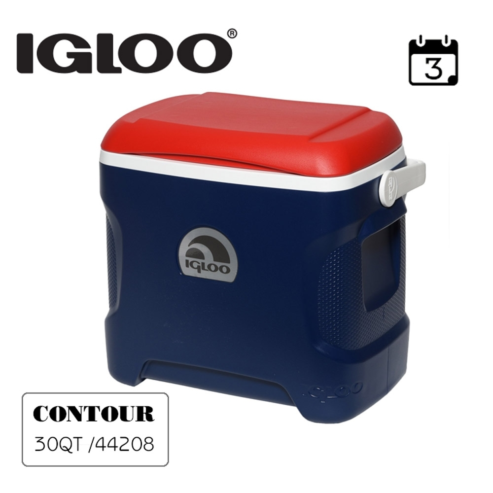 IGLOO CONTOUR系列30QT冰桶44208(44209) 藍色-紅色