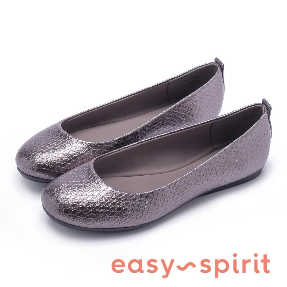 Easy Spirit GETCITY3 時尚芭蕾微甜平底娃娃鞋-銀色