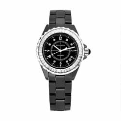 Kelaimiya 克萊米亞 閃耀奢華精密陶瓷腕錶【黑色/黑陶/黑面】