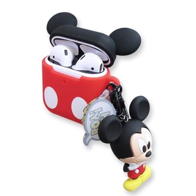 迪士尼 正版授權 Airpods 立體公仔 藍牙耳機保護套 1/2代通用款(米奇)