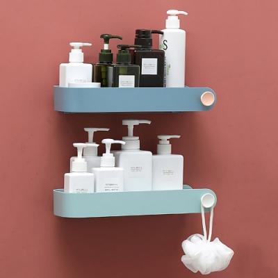 STICK無痕免打孔 掛勾小物收納 廚房浴室置物架 透明貼免鑽孔 壁掛大容量收納架